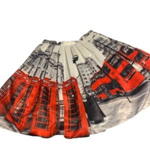 London themed circle skirt with built in liner